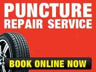 book online for puncture repair